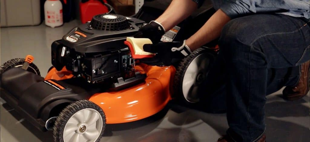 How to clean a reusable remove air filter for your lawnmower