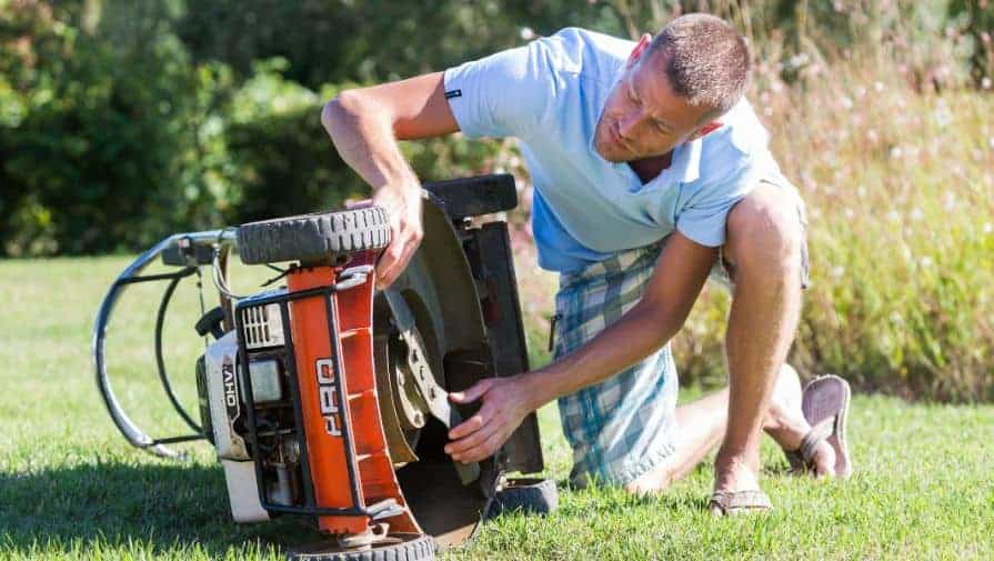Why should you keep the under of your lawnmower clean